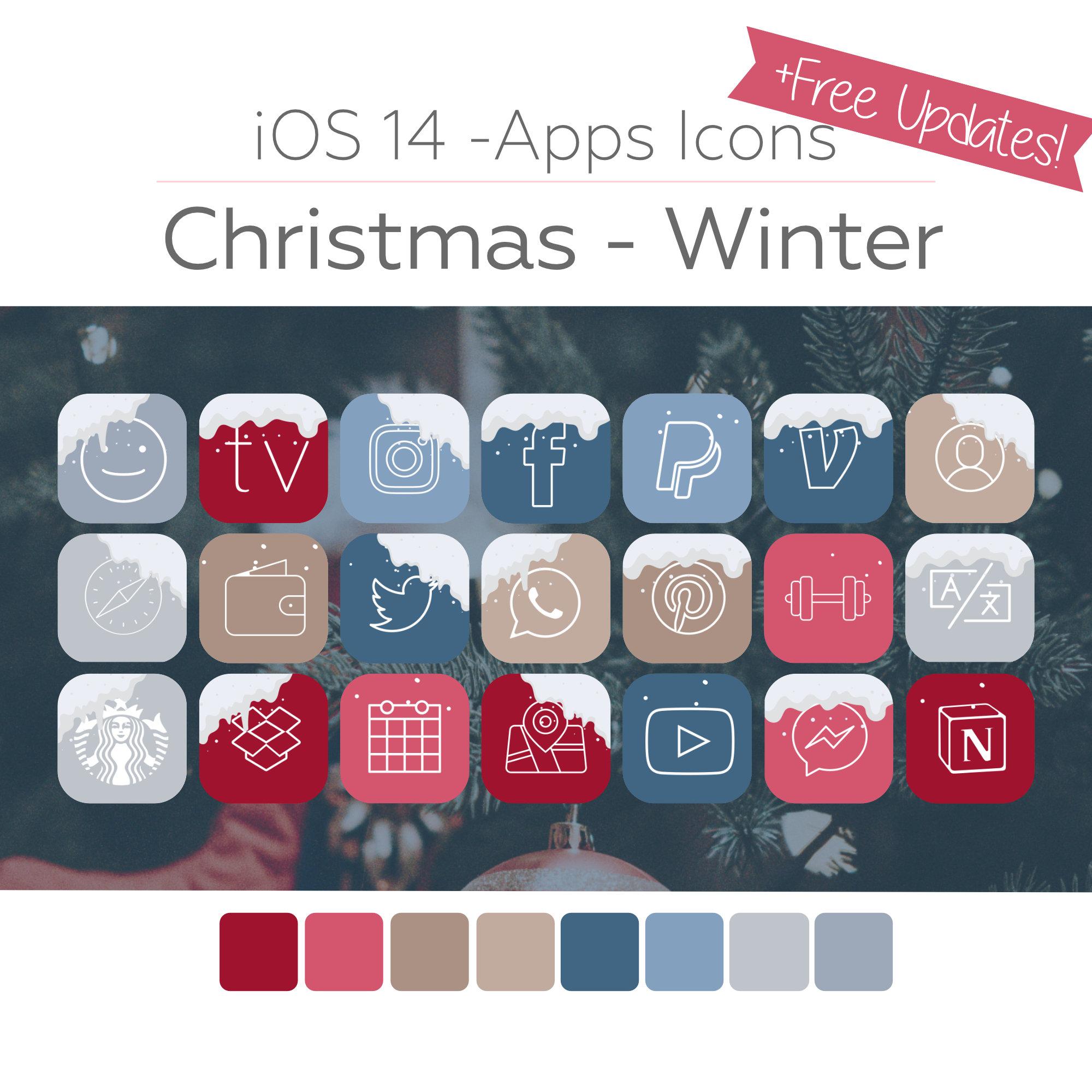 Winter Ios Icons Aesthetic Iphone Home Screen Digisparkles